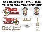 BSA Bantam Transfer and Decal Sets